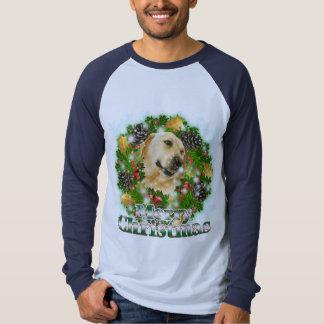 Merry Christmas Lab Tee Shirt
