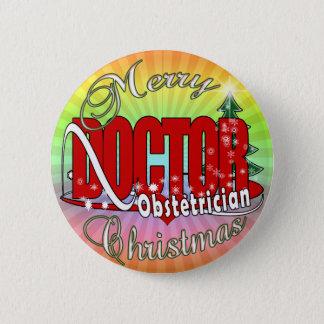 MERRY CHRISTMAS LABORATORY PINBACK BUTTON