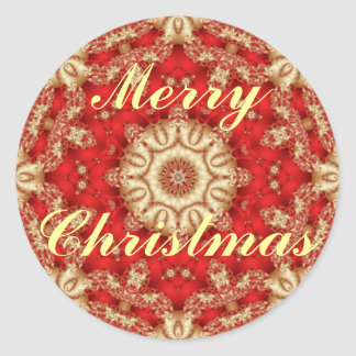 Merry Christmas Lace Envelope Seals Classic Round Sticker