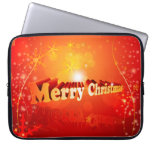 Merry christmas laptop computer sleeves