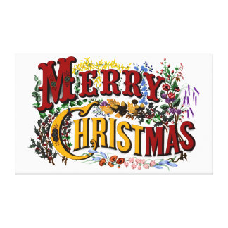 Merry Christmas Large Canvas Print - Customize