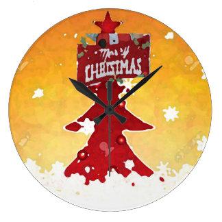 Merry Christmas _ Large Clock