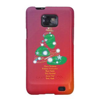 Merry Christmas las navidades Joviales Buon Natale Samsung Galaxy S2 Carcasas