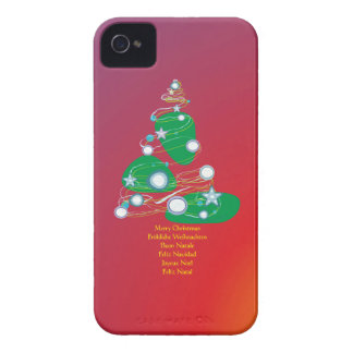 Merry Christmas las navidades Joviales Buon Natale Case-Mate iPhone 4 Protectores
