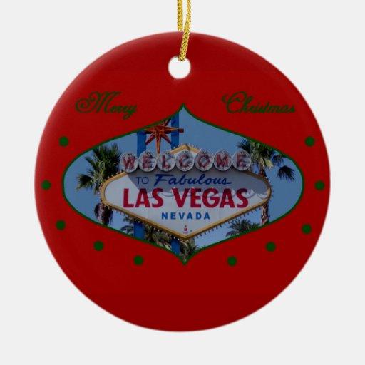 Merry Christmas Las Vegas Ornament