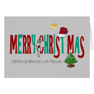MERRY CHRISTMAS  LAS VEGAS SHOWGIRL Card