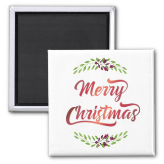 Merry Christmas Laurels Red ID293 Magnet