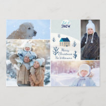 Merry Christmas Let it Snow Holiday Photo Collage