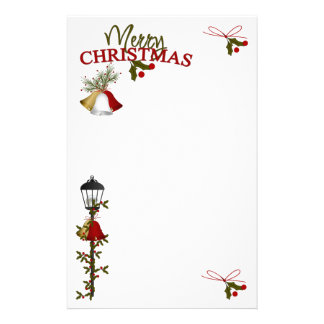 Merry Christmas Letter Customized Stationery