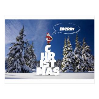 Merry christmas letters favor Santa Postcard