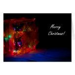 Merry Christmas Light Block Greeting Card