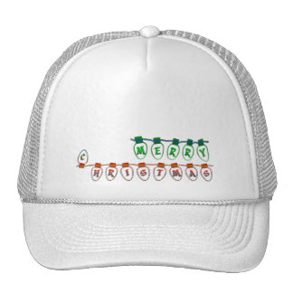 merry christmas light bulbs trucker hat