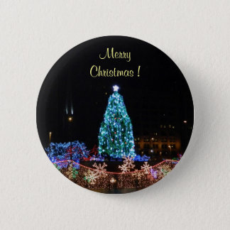 Merry Christmas Lights Button