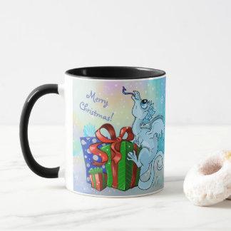 Merry Christmas! lil' Dragon snowflake Mug