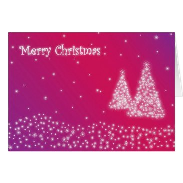 Christmas Themed merry christmas lilac greeting card