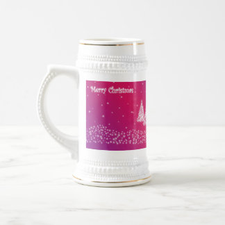 merry christmas lilac stein 18 oz beer stein