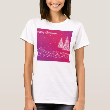 Christmas Themed merry christmas lilac womens shirt