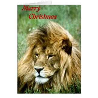 Merry Christmas lion Card