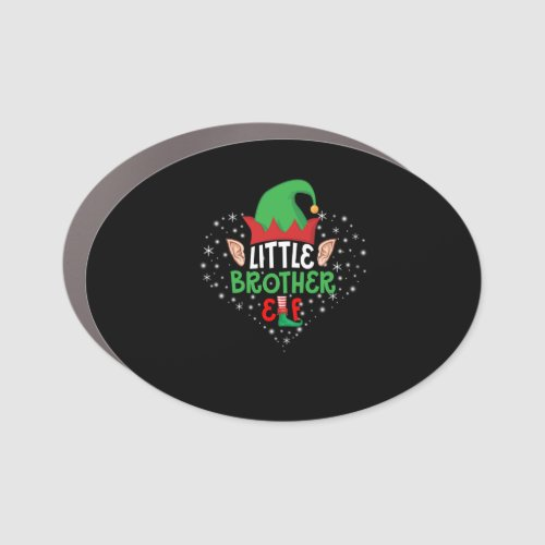 Merry Christmas Little Brother Car Magnet