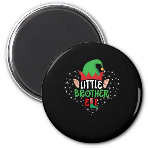 Merry Christmas Little Brother Magnet