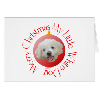 Merry Christmas Little White Dog Card