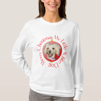 Merry Christmas Little White Dog Poodle / Bichon T-Shirt