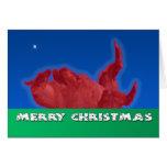 Merry Christmas Llama Rolls in Dirt Bath Card