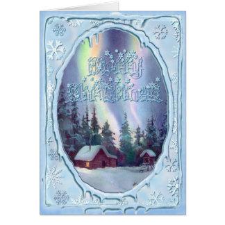 MERRY CHRISTMAS LOG CABIN by SHARON SHARPE Card