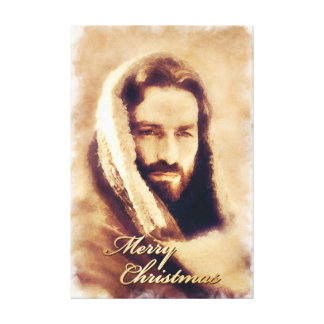 Merry Christmas Love Jesus Wrapped Canvas