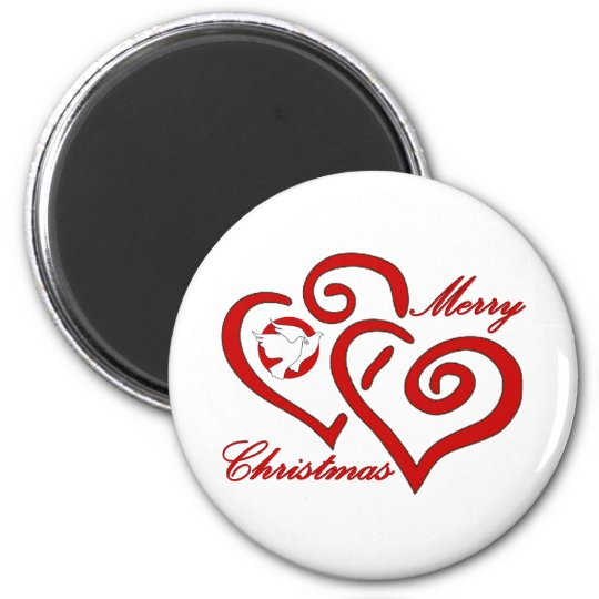 Merry Christmas Love & Peace Magnet