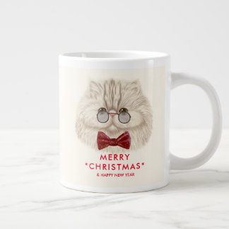 Merry Christmas Lovely Cat Jumbo Mug