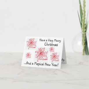 merry christmasmagical new year holiday card