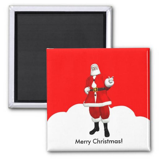 Merry Christmas Magnet 2 Inch Square Magnet