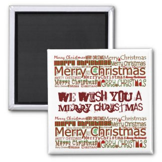 Merry Christmas Magnet - Personalize