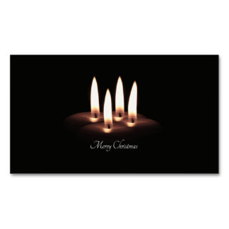Merry Christmas Magnetic Business Card