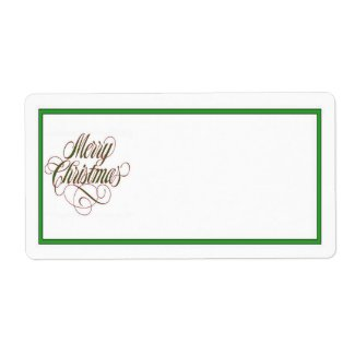 Merry Christmas! Mailing Label Shipping Label label