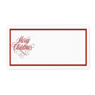 Merry Christmas! Mailing Label Shipping Label