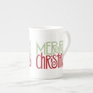Merry Christmas margarita green Bone China Mug