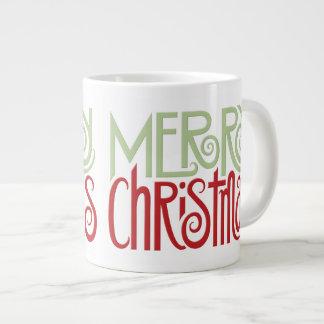 Merry Christmas margarita green Jumbo Mug