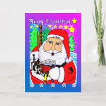 Merry Christmas Martial Arts Santa Greeting Card