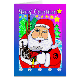 Merry Christmas Martial Arts Santa Greeting Card