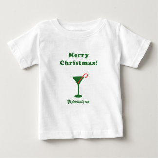Merry Christmas Martini with Candy Cane Baby T-Shirt