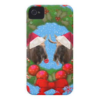 Merry Christmas Mary Chris Moose iPhone 4 Cover