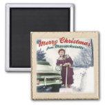 Merry Christmas / Massachusetts Fridge Magnets
