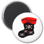 Merry Christmas Matey 2 Inch Round Magnet