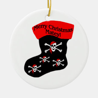 Merry Christmas Matey Stocking Christmas Ornament