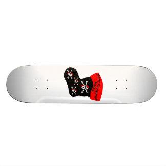 Merry Christmas Matey Stocking Skateboard
