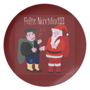 Merry Christmas Melamine Plate  sc 1 st  Zazzle & Christmas Plates | Christmas Plate Designs