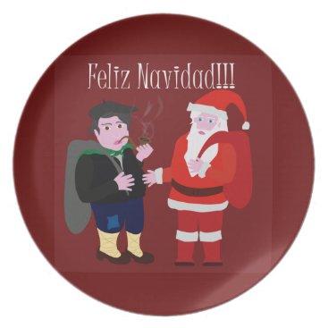 Christmas Themed Merry Christmas Melamine Plate