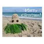Merry Christmas/ Mele Kalikimaka Snowman Sandman Post Cards
